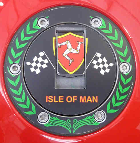 "Tankdeckelpad Aluminium Isle of Man ""Crown"" 40014"